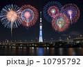 花火とスカイツリー(合成) 10795792
