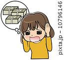 悩む 借金 女性のイラスト 10796146