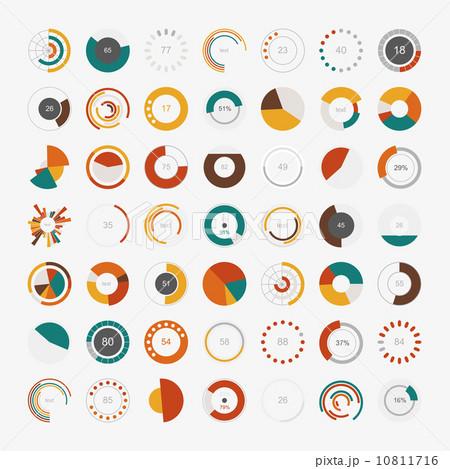 Infographic Elements.Pie chart set iconのイラスト素材 [10811716] - PIXTA
