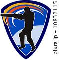クリケット 男 男性のイラスト 10832115