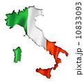 Italian flag map 10833093