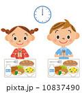 ベクター 給食 子供のイラスト 10837490