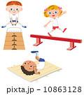 運動をする子供 10863128