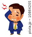 頭痛 ベクター 人物のイラスト 10864205