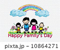 Happy family 's day  father, mother, son , girl idea design 10864271