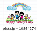 Happy family 's day  father, mother, son , girl idea design 10864274