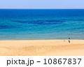 海辺を犬と駆ける少女 10867837