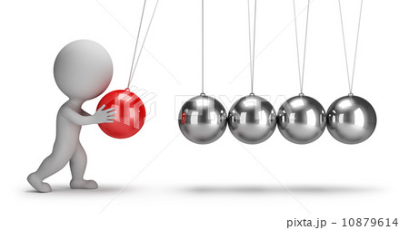 3d small people - Newtons cradle 10879614