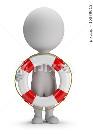 3d small people - lifebuoy 10879615