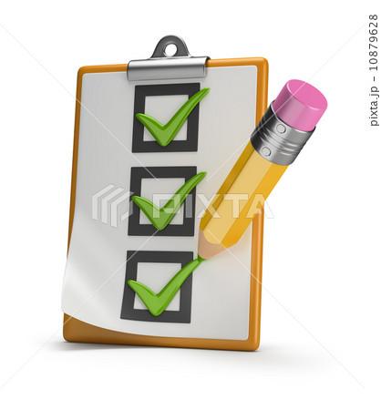 checklist and pencil 10879628