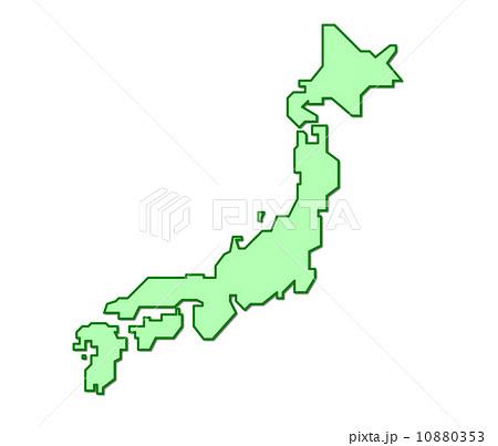 日本列島のイラストのイラスト ... : 日本列島 イラスト : イラスト
