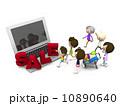 三世代 ネットショッピング 人物のイラスト 10890640