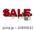 セール ショッピング 家族のイラスト 10890642