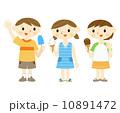 子供 笑顔 アイスのイラスト 10891472