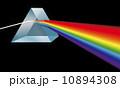 プリズム 角柱 分光のイラスト 10894308