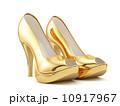 Golden high heels 10917967