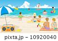 海水浴 ベクター 砂浜のイラスト 10920040