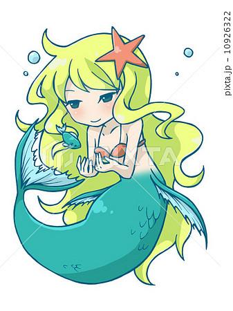 人魚姫のイラスト素材 10926322 Pixta