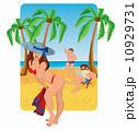 セクシー 海 女の子のイラスト 10929731