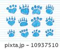 Animal footprints silhouettes 10937510