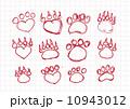 Animal footprints silhouettes 10943012