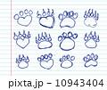 Animal footprints silhouettes 10943404