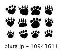 Animal footprints silhouettes 10943611