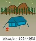 キャンプ 収容所 たきぎのイラスト 10944958