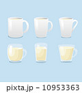 White mugs and glass mugs vector  10953363