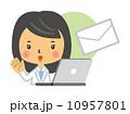薬剤師 人物 女性のイラスト 10957801