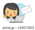 薬剤師 人物 女性のイラスト 10957803