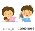 モバイル スマートフォン 人物のイラスト 10964094