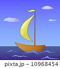 Ship floats in the sea 10968454