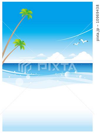 南国の白いビーチ(タテ) 10969438