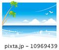 ヤシの木 ベクター 海のイラスト 10969439
