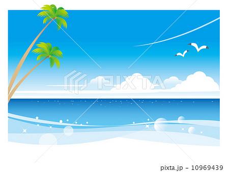 南国の白いビーチ(ヨコ) 10969439