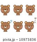 熊 表情 顔のイラスト 10973836