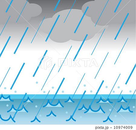 大雨のイラスト素材 10974009 Pixta