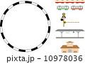 山手線 踏み切り 路線図のイラスト 10978036