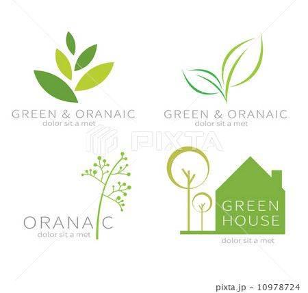 Ecology green icon.Eco green leaf. のイラスト素材 [10978724] - PIXTA