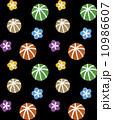 シームレスパターン 花と手毬 10986607