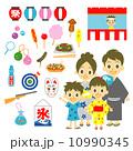 夏祭り 屋台 家族 セット 10990345