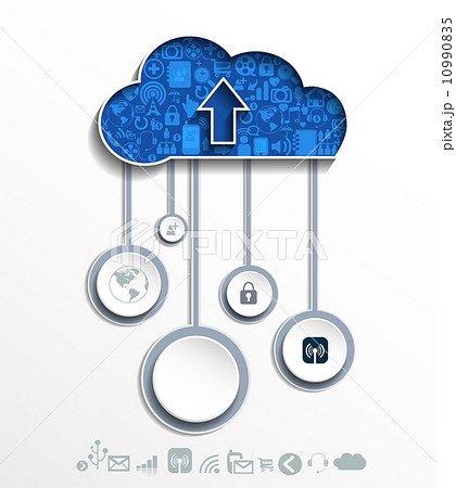 Cloud computing concept with icons. 10990835