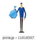 清掃員 人物 男性のイラスト 11018307