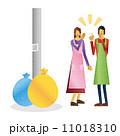 井戸端会議 女性 人物のイラスト 11018310