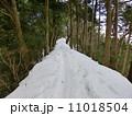 雪道 景信山 山道の写真 11018504