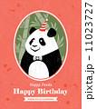 Panda Animal Cartoon Birthday card design 11023727