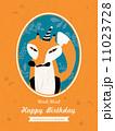 Fox Animal Cartoon Birthday card design 11023728
