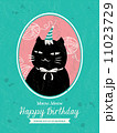 Cat Animal Cartoon Birthday card design 11023729