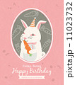 Rabbit Cartoon Birthday card design 11023732